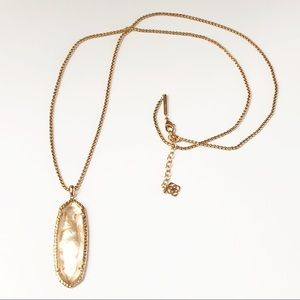 Kendra Scott Layden Rose Gold & Peach Necklace